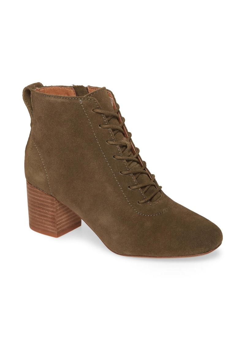 Madewell The Emilia Lace-Up Bootie (Women)