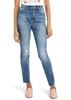Madewell The High Waist Crop Slim Boy Jeans (Dover)