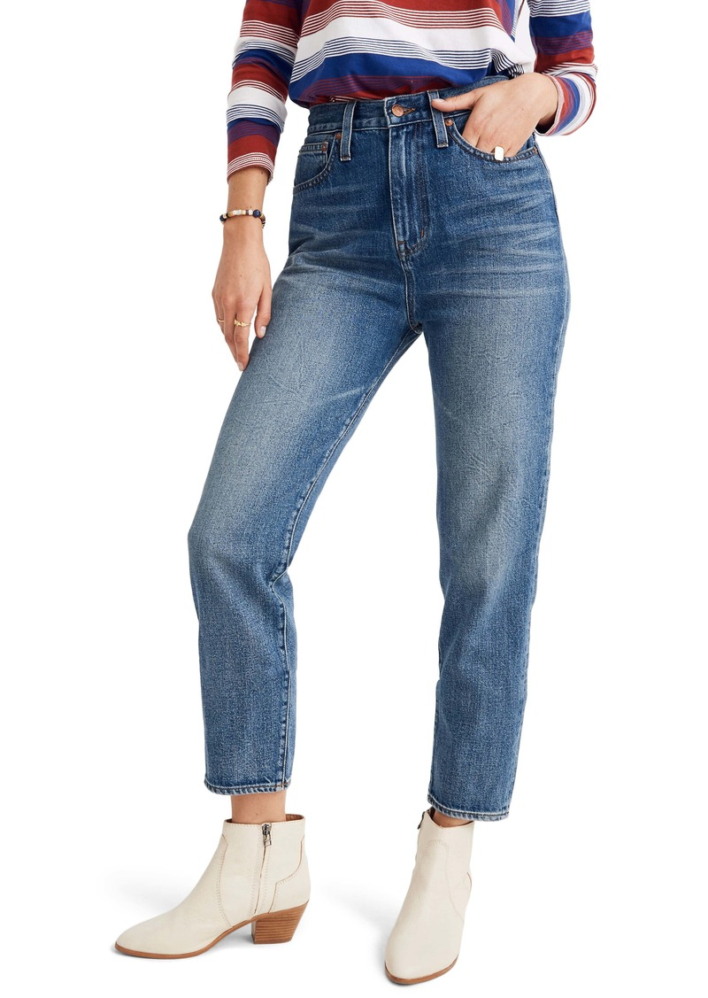 Madewell The High Waist Mom Jeans (Downey Wash)