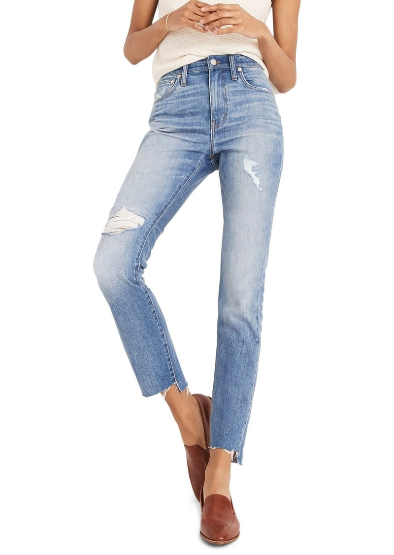 69bda38aec On Sale today! Madewell Madewell The High Waist Step Hem Slim Boy ...