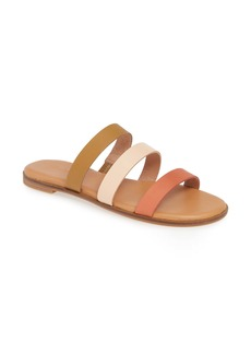Madewell The Ilana Colorblock Slide Sandal (Women)