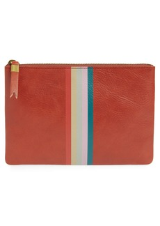 Madewell The Leather Pouch Clutch - Red