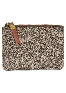 Madewell The Leather Pouch Wallet in Glitter