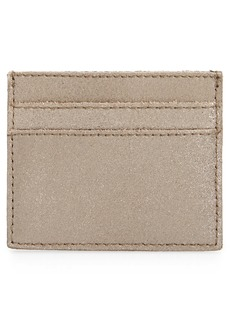 Madewell The Metallic Gold Leather Card Case
