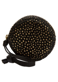 Madewell The Mini Circle Pouch in Metallic Dot Genuine Calf Hair