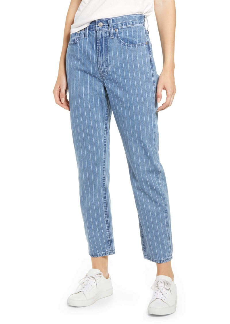 Madewell The Perfect Vintage Crop Jeans (Pinstripe Denim)