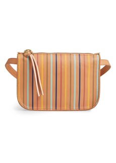 Madewell The Simple Rainbow Stripe Pouch Belt Bag
