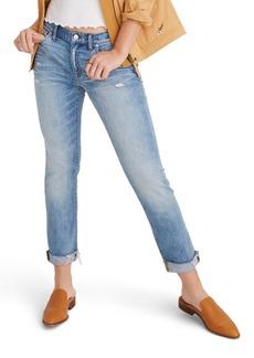 Madewell The Slim Boyjean Raw Hem Boyfriend Jeans (Carlson Wash)
