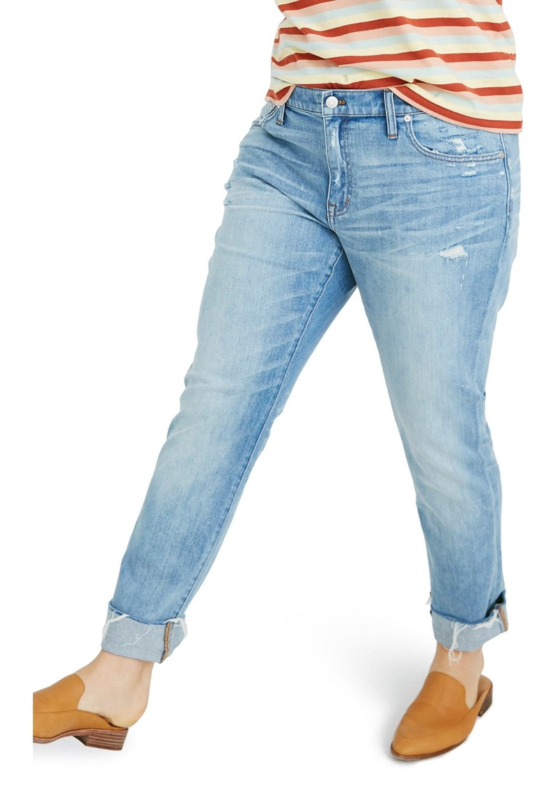online for sale buying cheap fashionable patterns Madewell Madewell The Slim Boyjean Raw Hem Boyfriend Jeans (Carlson Wash)  Now $79.99