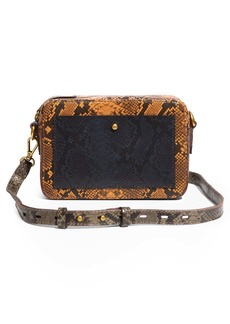 Madewell The Transport Camera Bag: Colorblock Snake Embossed Leather