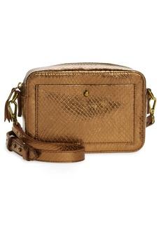 Madewell The Transport Camera Bag: Metallic Snake Embossed Leather Edition