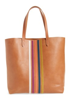 Madewell The Transport Stripe Embroidered Tote