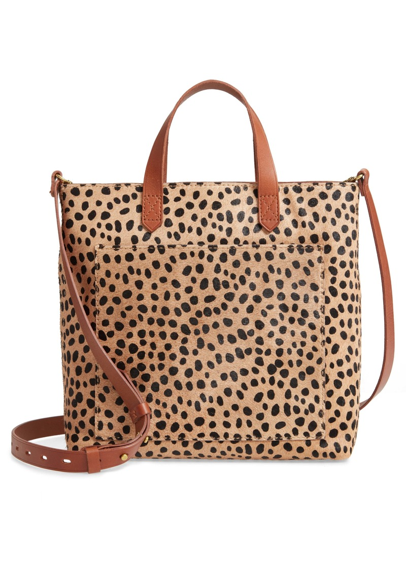 Madewell The Zip Top Small Transport Crossbody: Spotted Calf Hair Edition