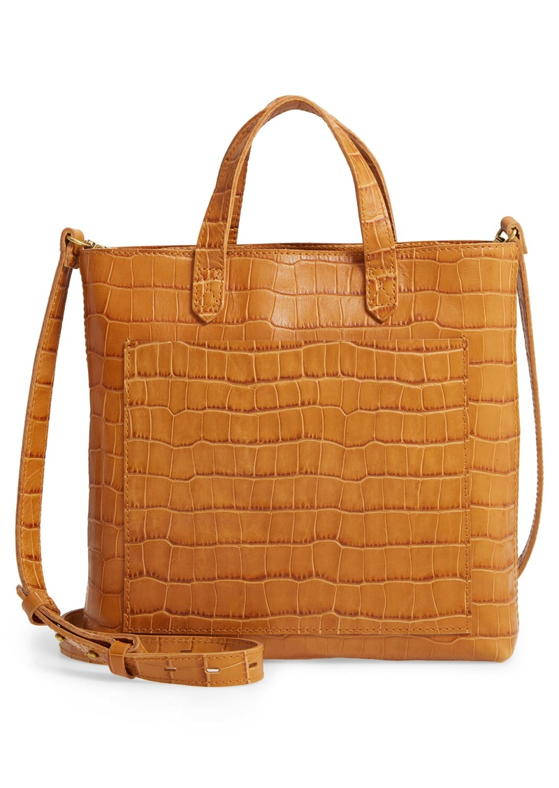 Madewell The Zip-Top Small Transport Embossed Leather Crossbody Bag