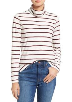 Madewell Whisper Cotton Stripe Turtleneck Top