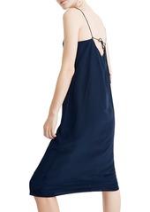 Madewell Tie Back Silk Slipdress