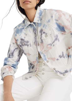 Madewell Tie Dye Raglan Oversize Denim Jacket