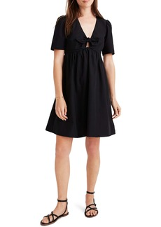 Madewell Tie-Front Minidress