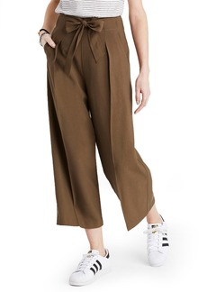 Madewell Tie Front Wide Leg Pants