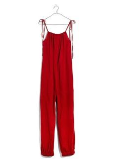 Madewell Tie Strap Gauze Jumpsuit