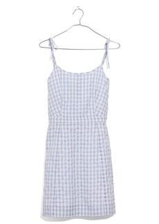 Madewell Tie Strap Gingham Dress