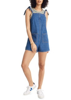 Madewell Tie Strap Short Overalls