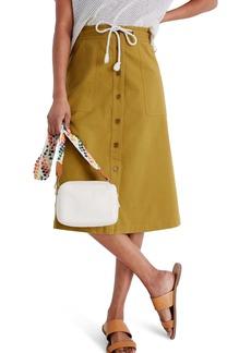 Madewell Tie Waist Utility Midi Skirt