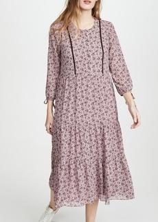 Madewell Tiered Midi Dress
