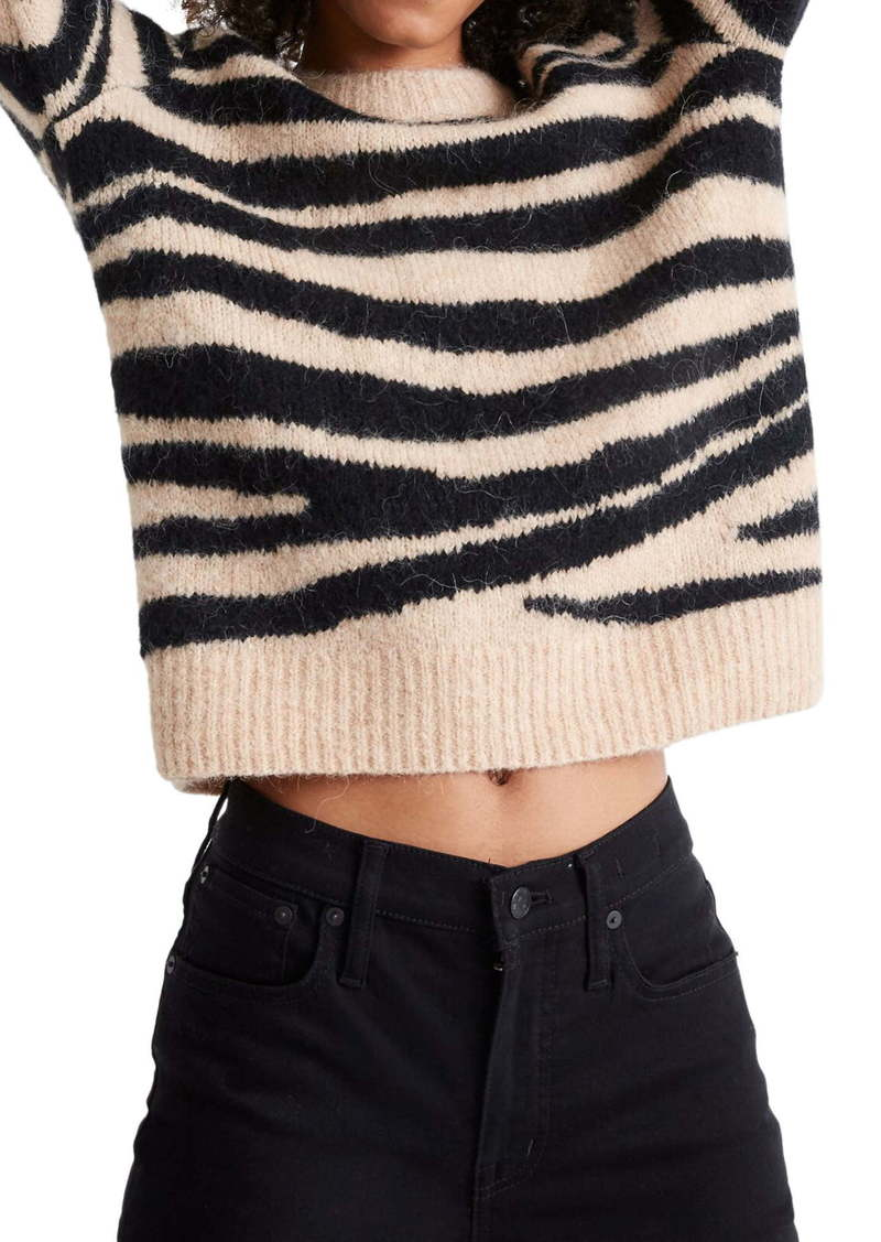 Madewell Tiger Stripe Shrunken Pullover Sweater