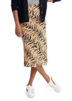 Madewell Tiger Stripe Silk Midi Slip Skirt