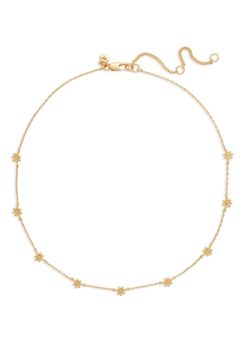 Madewell Tiny Flowers Choker Necklace