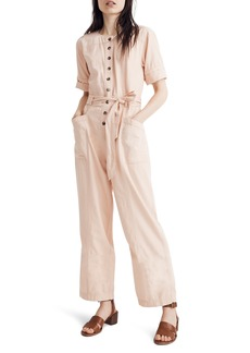 Madewell Topstitched Coverall Jumpsuit
