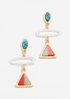 Madewell Triangle Link Earrings
