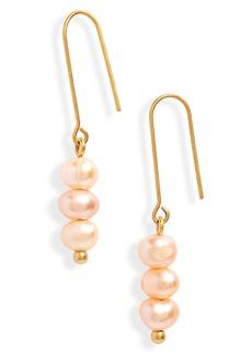 Madewell Triple Pearl Earrings