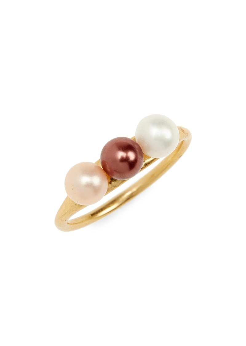 Madewell Triple Pearl Ring