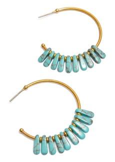 Madewell Turquoise Beaded Hoop Earrings