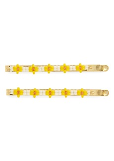 Madewell Two-Pack Daisy Beaded Hairpins