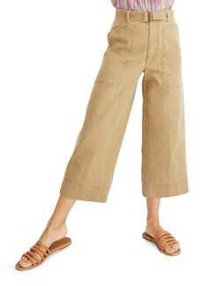 Madewell Utility Crop Wide Leg Pants