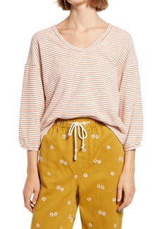 Madewell V-Neck Bubble-Sleeve Sweatshirt