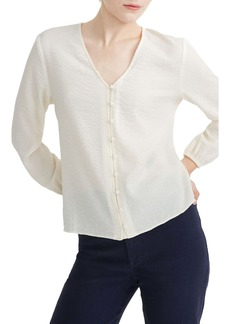 Madewell V-Neck Button Shirt