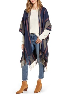 Madewell Variegated Stripe Poncho (Nordstrom Exclusive)