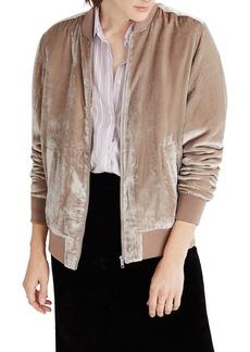 Madewell Velvet Bomber Jacket
