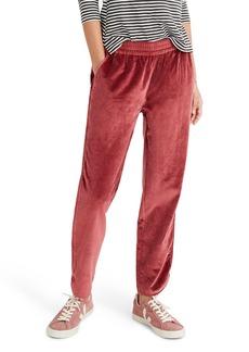 Madewell Velvet Track Pants