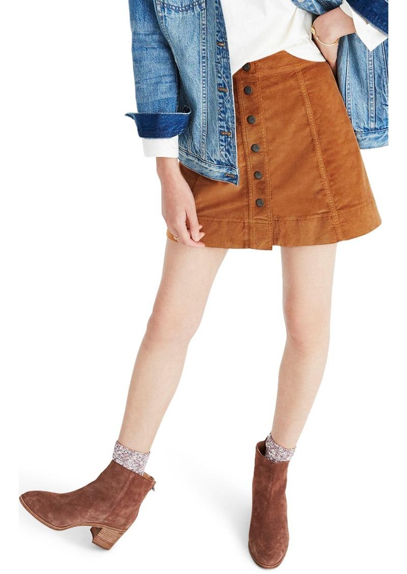 b4b92ce897 Madewell Madewell Velveteen Metropolis Snap Miniskirt | Skirts