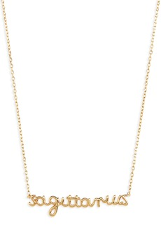 Madewell Vermeil Astrological Sign Necklace
