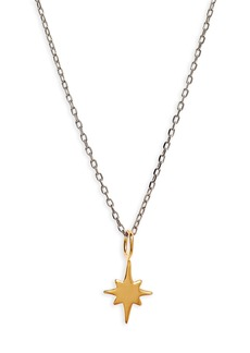 Madewell Vermeil Bright Star Charm Necklace