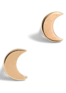 Madewell Vermeil Crescent Moon Stud Earrings