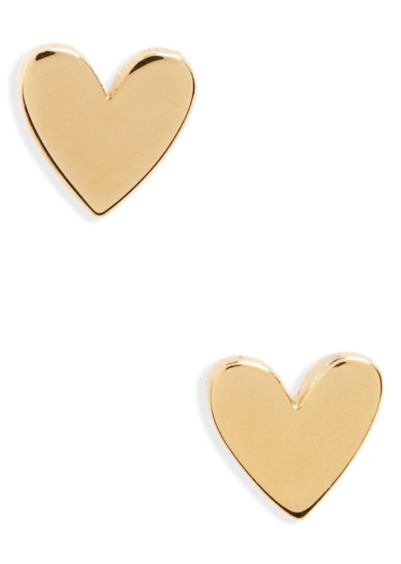 Madewell Vermeil Heart Stud Earrings