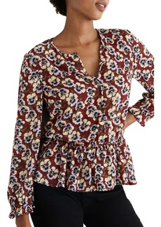 Madewell Viola Floral Ruffle Top