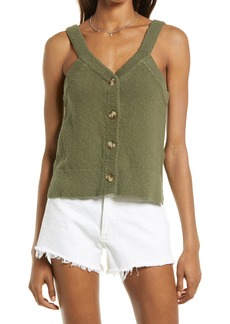 Madewell Wakefield Button Front Sweater Tank